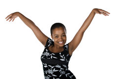 Happy young black woman Stock Photos