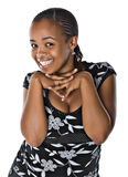 Happy young black woman Stock Photo
