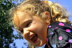 Happy young blond girl Stock Image