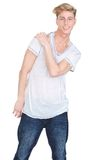Happy young blond man Royalty Free Stock Photo