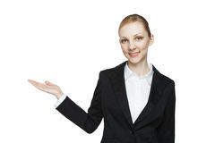 Happy young blond woman Royalty Free Stock Image