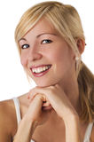 Happy young blond woman Stock Image