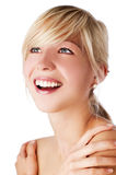 Happy young blond woman Stock Photo