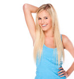 Happy young blonde woman Royalty Free Stock Photos