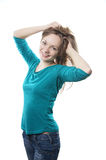 Flirty young woman Royalty Free Stock Photo