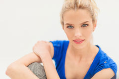 Happy young blonde woman smiling Royalty Free Stock Photo