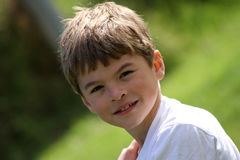 Happy young boy Royalty Free Stock Images