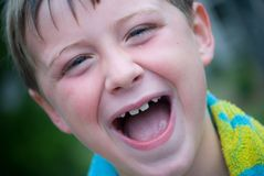 Happy Young Boy. Handsome young lad with a great smile enjoying life stock photos