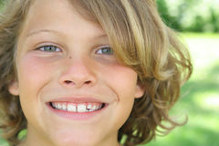 Happy young boy stock photos