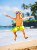Happy young boy at the beach Royalty Free Stock Photo