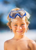 Happy young boy at the beach Stock Photos