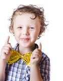 Happy boy with bow tie Royalty Free Stock Images