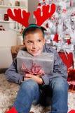 Happy young boy at Christmas Royalty Free Stock Photo