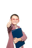 Happy young boy over white background Royalty Free Stock Photography