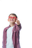 Happy young boy over white background Stock Photo