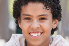 Happy Young Boy Portrait Stock Photography