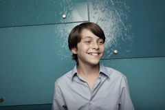 Happy young boy smiling Royalty Free Stock Image