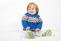 Happy young Boy in Studio Royalty Free Stock Photography
