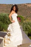 Happy young bride in dress Stock Photography