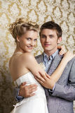Happy young Bride and groom Stock Photo