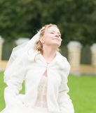 Young bride happy Royalty Free Stock Images