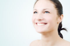 Happy young brunette. Stock Image