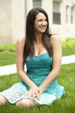 Happy Young Brunette Girl Royalty Free Stock Photos