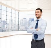 Happy young buisnessman Royalty Free Stock Photography