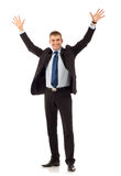 Happy young business man Stock Images