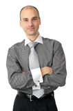 Happy young business man Royalty Free Stock Photos