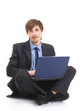 Happy young business man Stock Photography