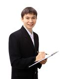Happy young business man Royalty Free Stock Image