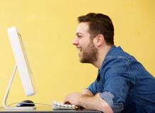 Happy young business man Royalty Free Stock Photography