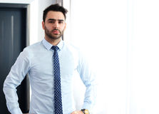 Happy young business man work in office Stock Image