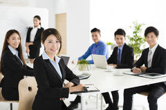 happy young business people in  meeting Stock Photos