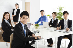 happy young business people in  meeting Stock Images
