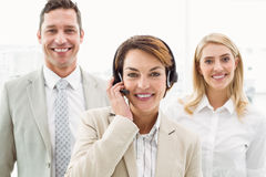 Happy young business people in office Stock Photography