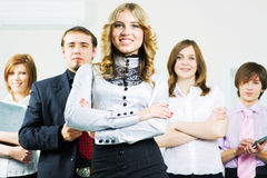 Happy young business team. Royalty Free Stock Photos