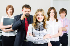 Happy young business team. Stock Images