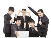 Happy young business team Stock Image