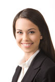 Happy young business woman. Modern portrait of a successful young professional business woman Stock Photo