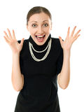 Happy young business woman Royalty Free Stock Photography