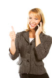 Happy young business woman Royalty Free Stock Photo