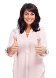 Happy young business woman. Stock Photo