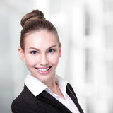 Happy young business woman Stock Photography
