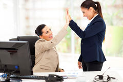 Business high five Royalty Free Stock Photos