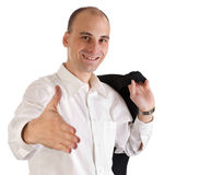Happy young businessman Stock Photography