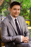 Happy young businessman. Portrait of Happy young businessman outdoor Royalty Free Stock Images