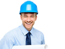 Happy young businessman architect Royalty Free Stock Images
