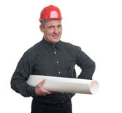 Happy young businessman architect Royalty Free Stock Photos